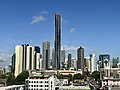 Brisbane CBD seen from Eleven Rooftop Bar at 757 Ann St, Fortitude Valley in July 2018, 03.jpg