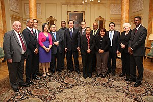 British Overseas Territories - Leaders of the Overseas Territories with former Prime Minister David Cameron in 2012.