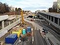 Brno, Žabovřesky, Žabovřeská, stavba tunelu (01).jpg