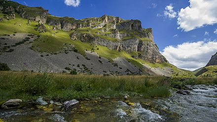 The Sar Mountains encompass one-tenth of Kosovo's territory. Brod Dragash.jpg