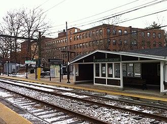 Brookline, Massachusetts - Brookline Village MBTA D-Train stop