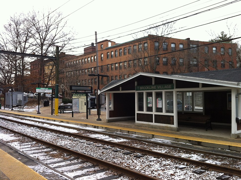 Brookline Village, Brookline, MA MBTA D-Train stop