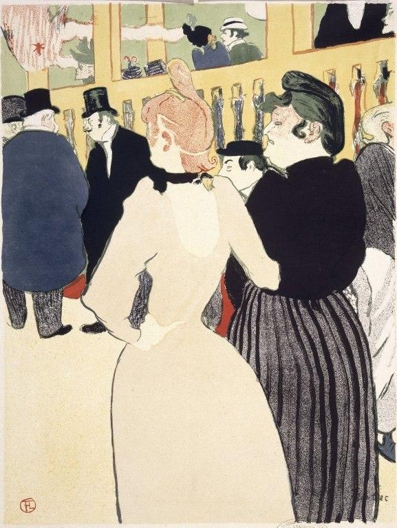 Brooklyn Museum - At the Moulin Rouge (Au Moulin Rouge) - Henri de Toulouse-Lautrec