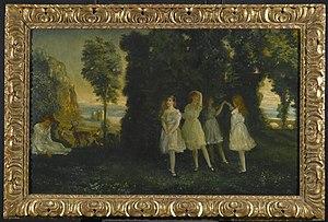 Arthur Bowen Davies - Arthur B. Davies, Dancing Children, 1902. Brooklyn Museum