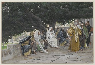 Sadducees - The Pharisees and the Sadducees Come to Tempt Jesus by James Tissot (Brooklyn Museum)