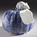 Brush washer or water pot in the form of a rotted squash with a rat LACMA M.2005.79.1.jpg