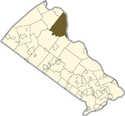 Location of Tinicum Township in Bucks County