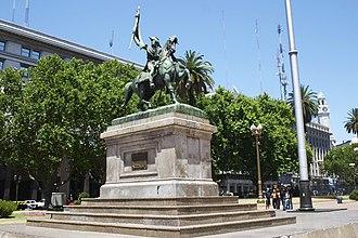 Equestrian monument to General Manuel Belgrano - Image: Buenos Aires Plaza de Mayo Estatua Belgrano