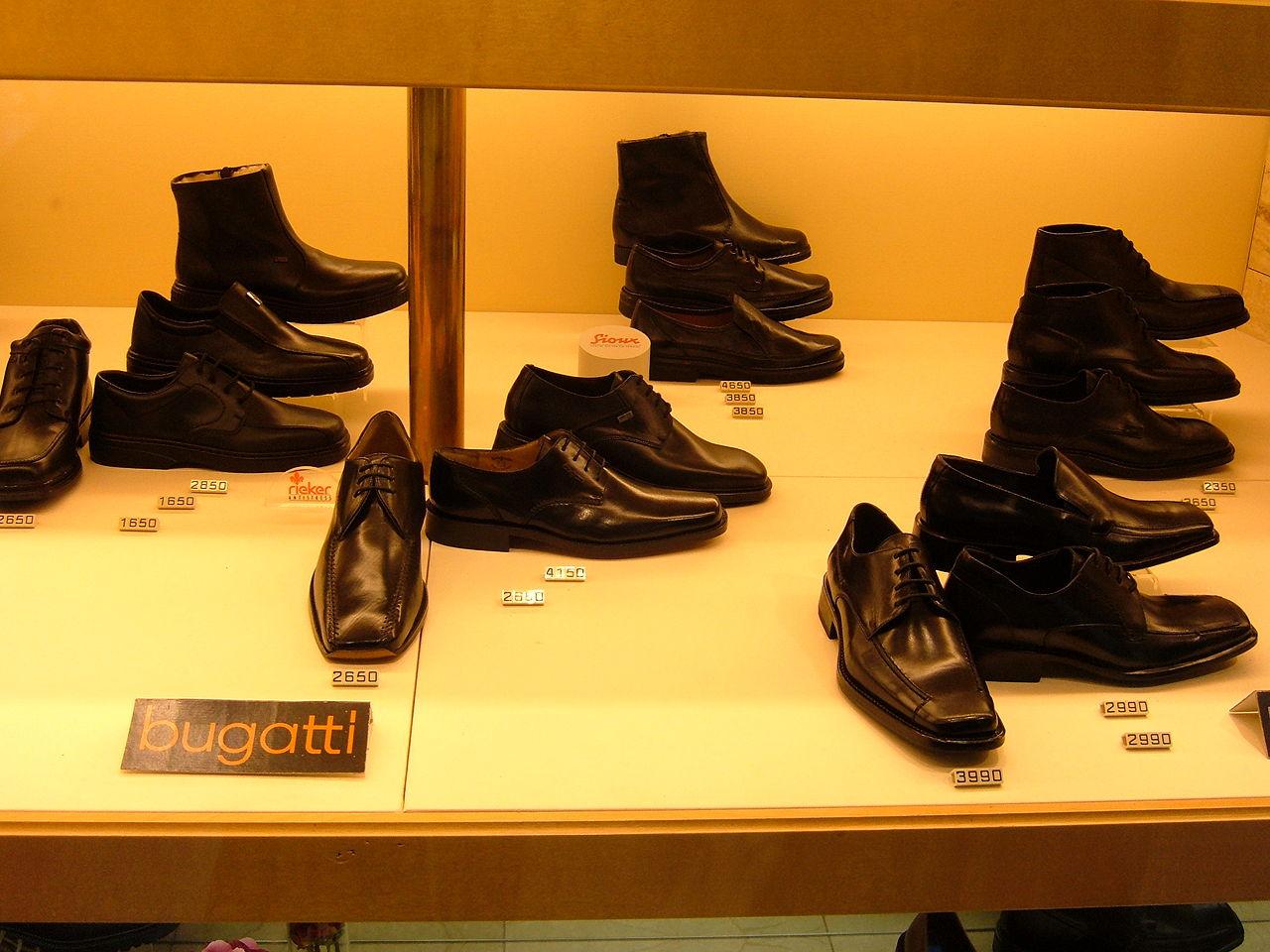 File Bugatti Shoes On Display Prague Jpg Wikimedia Commons