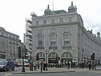 Swan & Edgar - Image: Building on corner of Regent Street and Piccadilly, London W1 geograph.org.uk 993237