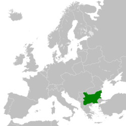 The Kingdom of Bulgaria in May 1918 after the Treaty of Bucharest