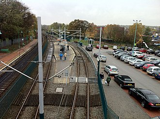 Bulwell station - Image: Bulwell station from the footbridge, 2011