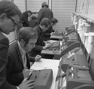 Programmer - Student programmers at the RWTH Aachen University in Aachen, Germany in 1970