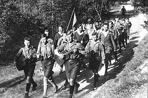 Wandervogel - Image: Bundesarchiv Bild 183 R24553, Gruppe des Wandervogels aus Berlin