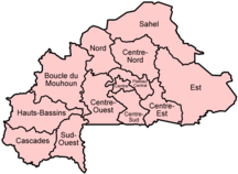 Burkina Faso-Suddivisione amministrativa-Burkina Faso regions named