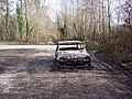 Burnt out car on the Old Shaston Drove - geograph.org.uk - 359158.jpg