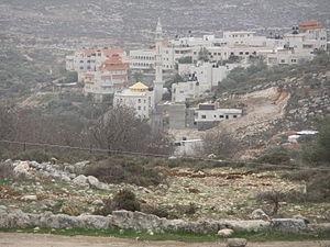 Burqa, Ramallah - Burqa´s mosque from the north