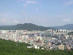 View of Geumjeong-gu from Geumjeongsan
