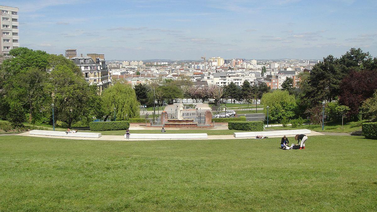 Parc de la butte du chapeau rouge wikip dia for Histoire des jardins wikipedia