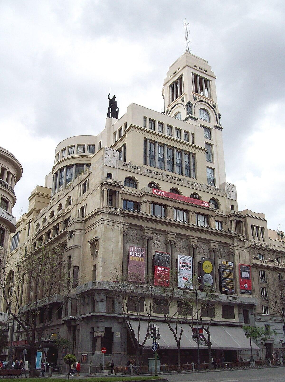 C rculo de bellas artes wikipedia la enciclopedia libre for Azoteas madrid