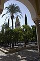 Córdoba-La Mezquita-Patio de los Najanros-Torre alminar-20110917.jpg