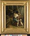 C.M.M. Verlat - Een beer overvalt een houthakker, genaamd Strijd op leven en dood - B656 - Cultural Heritage Agency of the Netherlands Art Collection.jpg