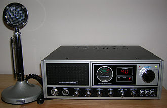 Base station - A 1980s consumer-grade citizens' band radio (CB) base station
