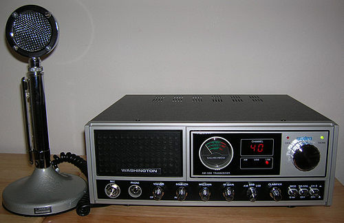A 1980s consumer-grade citizens' band radio (CB) base station CB Base Station.jpg