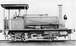 CGR 1st Class 0-4-0ST 1875 - CGR 1st Class 0-4-0ST of 1875