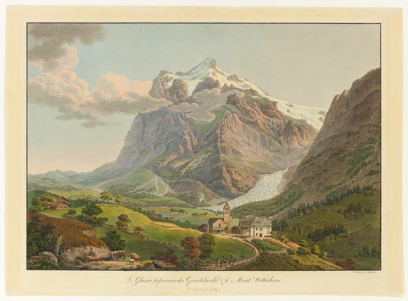CH-NB - Grindelwald, von Westen mit Wetterhorn und dem oberen Gletscher - Collection Gugelmann - GS-GUGE-LAFOND-A-4