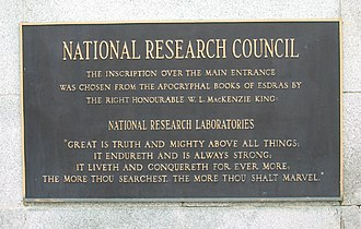 National Research Council (Canada) - Image: CNDNRC Sign Ottawa