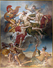Les Nymphes de Parthénope conduites par la déesse des Beaux-Arts