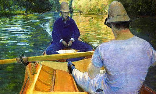 """Boaters on the Yerres"" by Gustave Caillebotte"