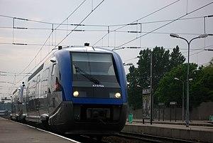 Gare de Calais-Ville - Calais-Ville with TER Nord-Pas-de-Calais rolling stock.