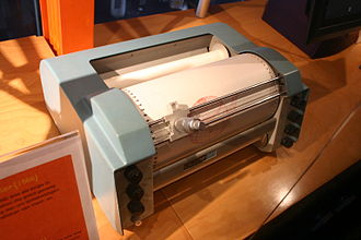 IBM 1627 - A Calcomp 565 drum plotter, essentially the same as the 1627, with pen assembly.