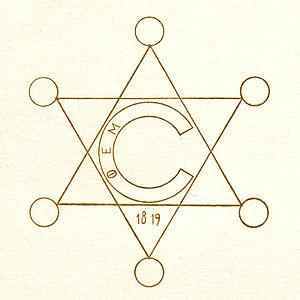 Calliopean Society - 19th-century Calliopean Society emblem