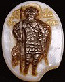 Cameo made of sardonyx from the 14th-century, Byzantine - St Theodore Stratelates - Walters 421404 (cropped).jpg