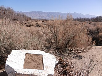 California Historical Landmarks in Inyo County - Image: Camp Independence Site