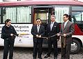 Canciller encargado, Carlos Játiva inaugura autobuses donados por la cooperación coreana para el registro de refugiados (4034554741).jpg
