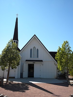 Clark County Museum - Candlelight Wedding Chapel located at the Clark County Heritage Museum