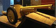 Canon de 75 modele 1897 used at Bir Hakeim modified as an antitank gun on pneumatic wheels