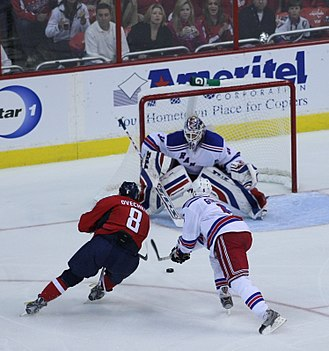 Henrik Lundqvist - Lundqvist during a game against the Washington Capitals in the 2009 Stanley Cup playoffs.