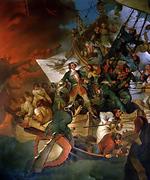 Capture d Azov en 1696, qui donne à la Russie un accès à la Mer Noire. Tableau de Robert Ker Porter (1775-1842).
