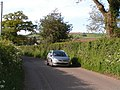 Car approaching Ellerhayes - geograph.org.uk - 1276939.jpg