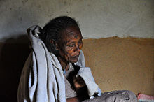 Old woman from Ethiopia