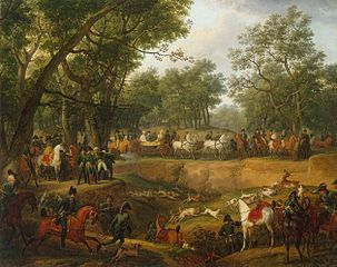Napoleon on a Hunt in the Forest of Compiegne