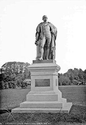 George Howard, 7th Earl of Carlisle - Image: Carlisle Statue, Phoenix Park