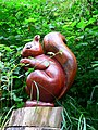 Carved Red Squirrel - geograph.org.uk - 1433537.jpg