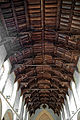 Castle Hedingham, St Nicholas' Church, Essex England, nave double hammerbeam roof.jpg
