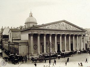 Buenos Aires Metropolitan Cathedral - Main facade in 1899, with the dome finished